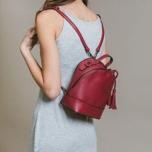 NWT 1 LEFT!  Vegan Mini-Backpack in Raspberry